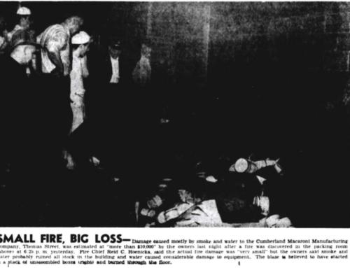 1947 Cumberland Macaroni Factory Fire
