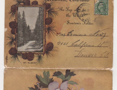 A letter from Ralph to Erminia while they lived in Colorado