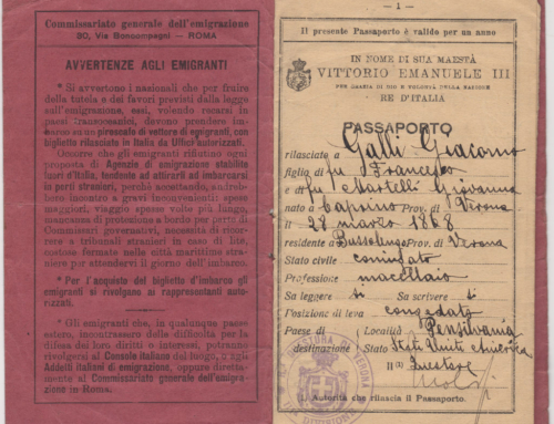 Giacomo Galli's Passport