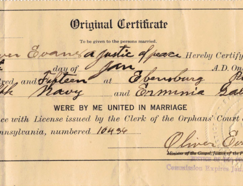 Ralph and Erminia Courthouse Marriage Documents